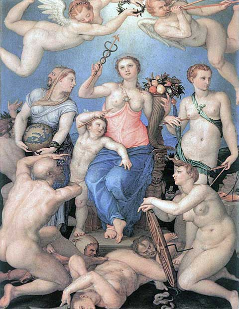 Alegorie štěstí, Agnolo Bronzino, 1564