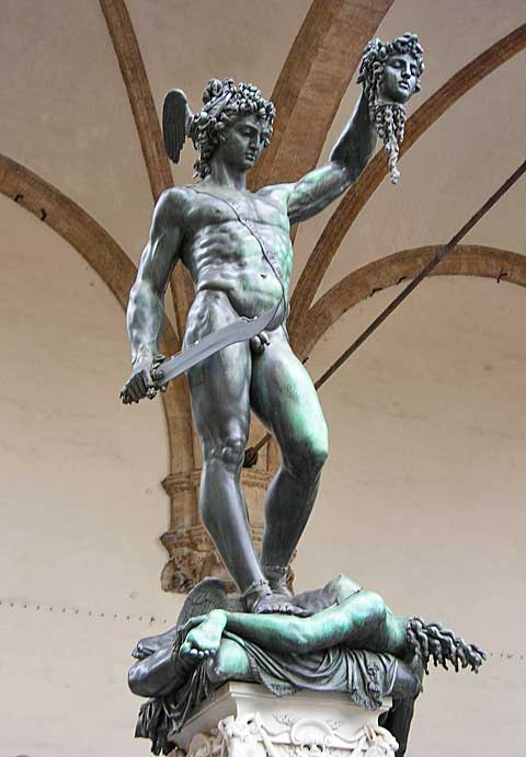 Benvenuto Cellini: Perseus (Florencie). Foto Fredrik Posse
