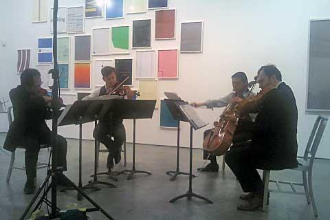 FLUX Quartet vPaula Cooper Gallery, foto Boris Klepal