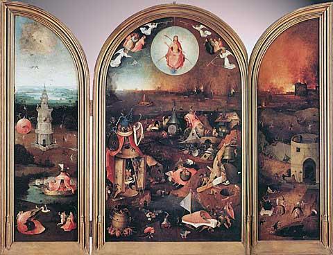Poslední soud, Hieronymus Bosch, triptych