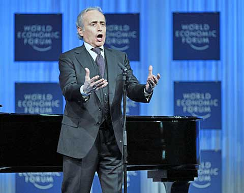 Jose Carreras, Opera Singer, Jose Carreras International Leukaemia Foundation, Spain sings during the 'Crystal Award Ceremony' at the Annual Meeting 2011of the World Economic Forum in Davos, Switzerland, January 26, 2011... Copyright by World Economic Forum. swiss-image.ch/Photo by Sebastian Derungs