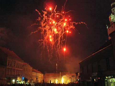 Concentus Moraviae sází na opačný poměr akcí než kulturní politika města Brna. Na 33koncertů připadá jeden ohňostroj. Foto Boris Klepal