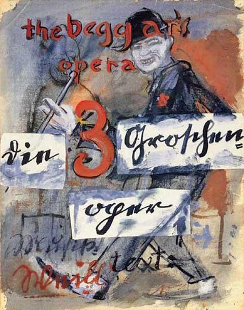 Žebrácká opera, plakát, Berlín 1928