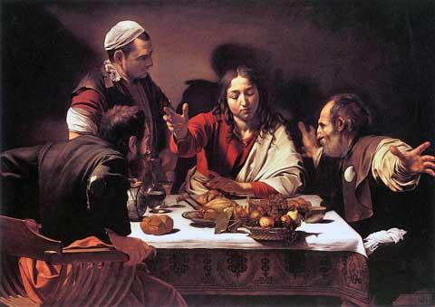 Večeře vEmauzích, Caravaggio, 1601–1602