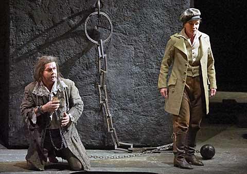 Robert Dean Smith (Florestan), Waltraud Meier (Leonore), © Wiener Staatsoper / Michael Pöhn