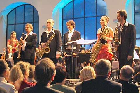 Bohemia Saxophone Quartet, Filharmonie Brno, Wannieck Gallery, foto Boris Klepal
