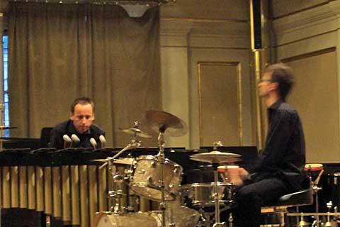 OK Percussion Duo, Besední dům, foto Boris Klepal
