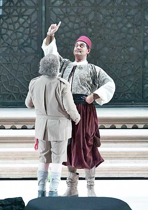 Alfred Šramek (Taddeo), Ildar Abdrazakov (Mustafà), © Wiener Staatsoper / Michael Pöhn