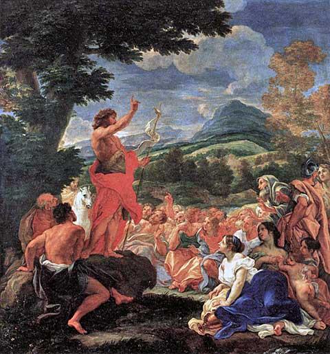 Kázání Jana Křtitele, Baciccio, 1690