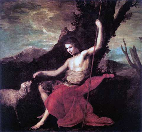 Jan Křtitel na poušti, Jusepe de Ribera, 1644–47