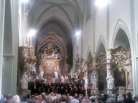 Klášterní noc vbazilice Nanebevzetí Panny Marie, Žďár nad Sázavou