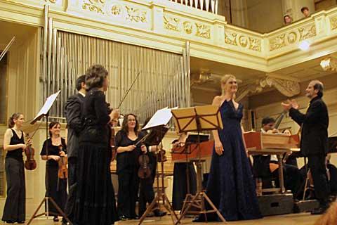 Magdalena Kožená, Andrea Marcon, Collegium 1704, Brno, Besední dům. Foto Boris Klepal