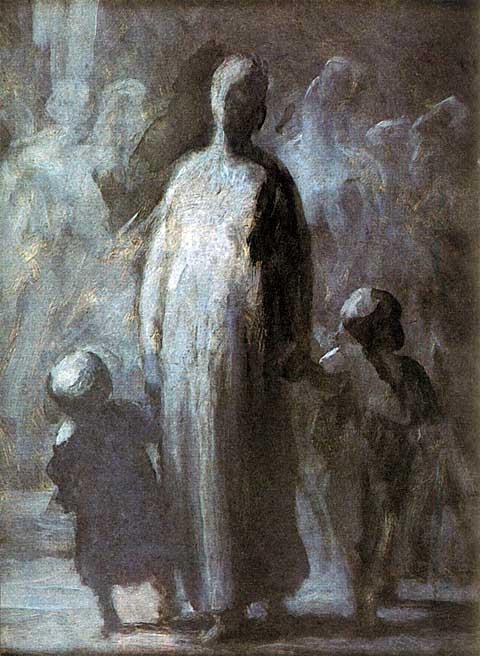Matka, Honoré Daumier, 1855, foto archiv