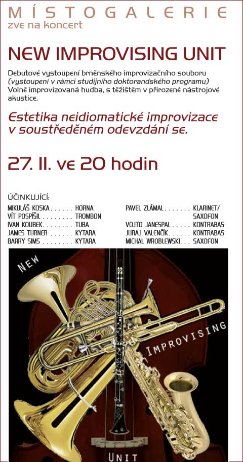 Koncert improvizované hudby, 27. 11. 2012 od 20.00, Místogalerie, Skleněná louka, Brno