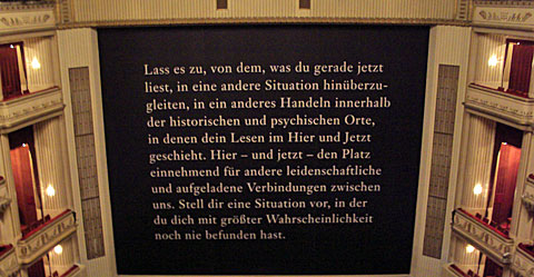 Wiener Staatsoper, opona, podzim 2011. Foto Boris Klepal
