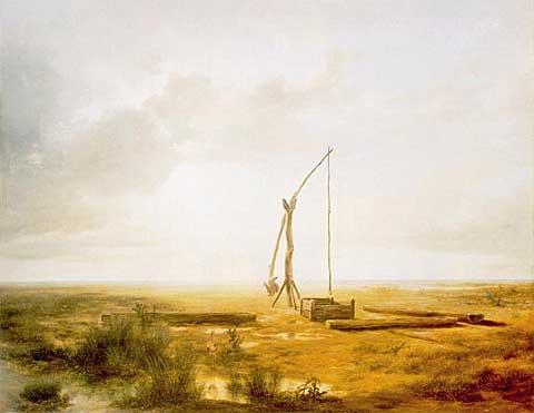 Panonská nížina se studnou sokovem, Károly Markó starší, 1853
