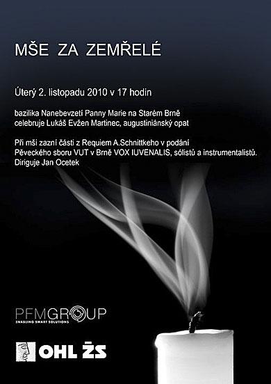 Alfred Schnittke, Requiem, 2. 11. 2010 v 17.00, bazilika na Starém Brně