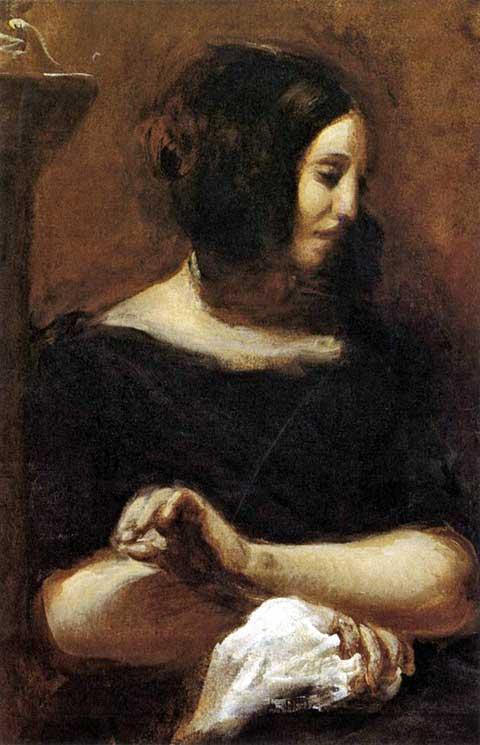 George Sand, Eugène Delacroix, 1838