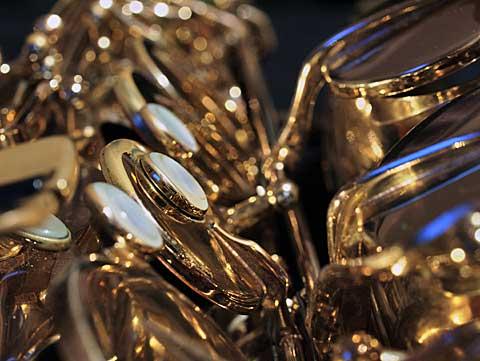 saxofon, ilustrační foto