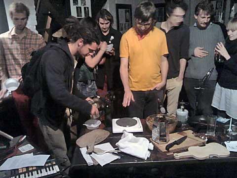 Sonic Catering Band, ochutnávka, Místogalerie, foto Boris Klepal