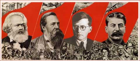 Marx, Engels, Šostakovič, Stalin