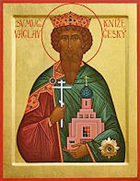 Svatý Václav, ikona zbrněnského chrámu svatého Václava, zdroj www.pravoslavbrno.cz