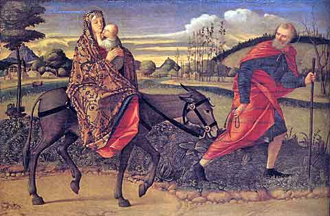 Útěk do Egypta, Vittore Carpaccio, National Gallery of Art, Washington, D.C.