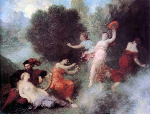 Tannhäuser ve Venušině hoře, Theodore Fantin-Latour, 1864