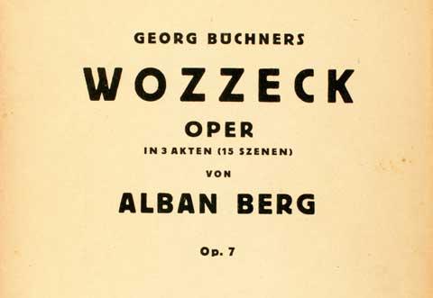 Wozzeck, obálka klavírního výtahu