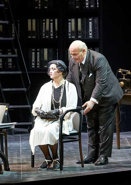 Laura Aikin a Wolfgang Bankl. Foto © Michael Pöhn / Wiener Staatsoper