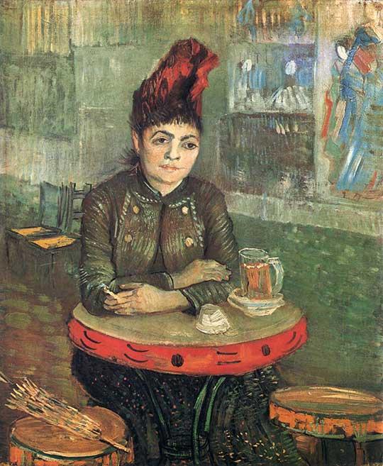 Agostina Segatori v Café du Tambourin, Vincent van Gogh, 1887