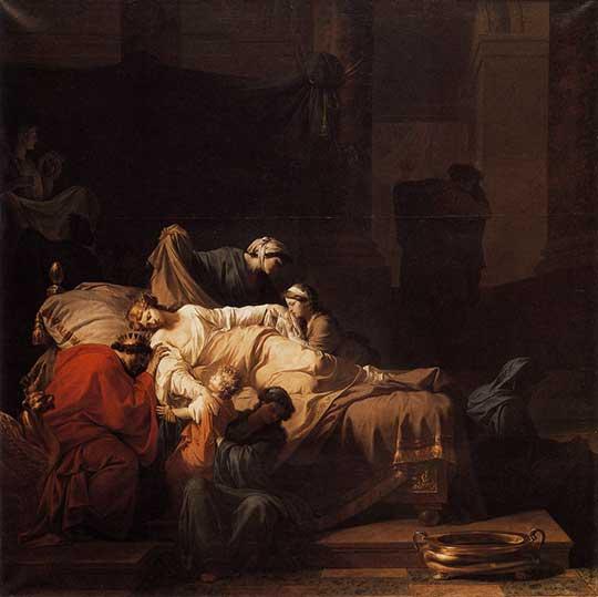 Umírající Alceste, Jean-François-Pierre Peyron, 1785