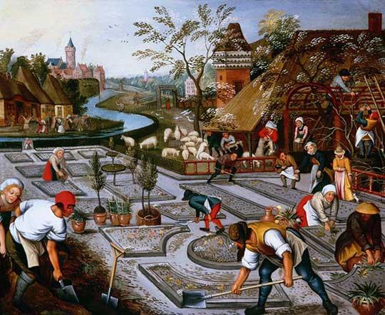 Alegorie jara, Pieter Brueghel mladší