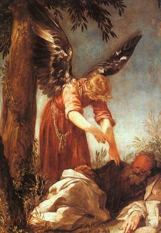 Anděl probouzí proroka Eliáše, Juan Antonio Frias y Escalante, 1667