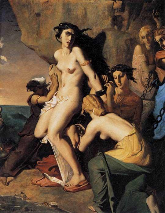 Andromeda a Nereidy, Théodore Chassériau, 1840