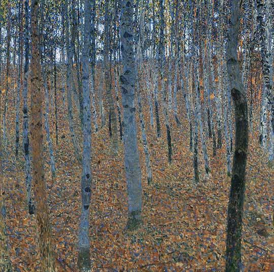 Buchenwald (Bukový háj), Gustav Klimt, 1902