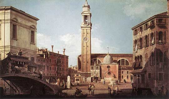Campo Santi Apostoli, Canaletto, 1730
