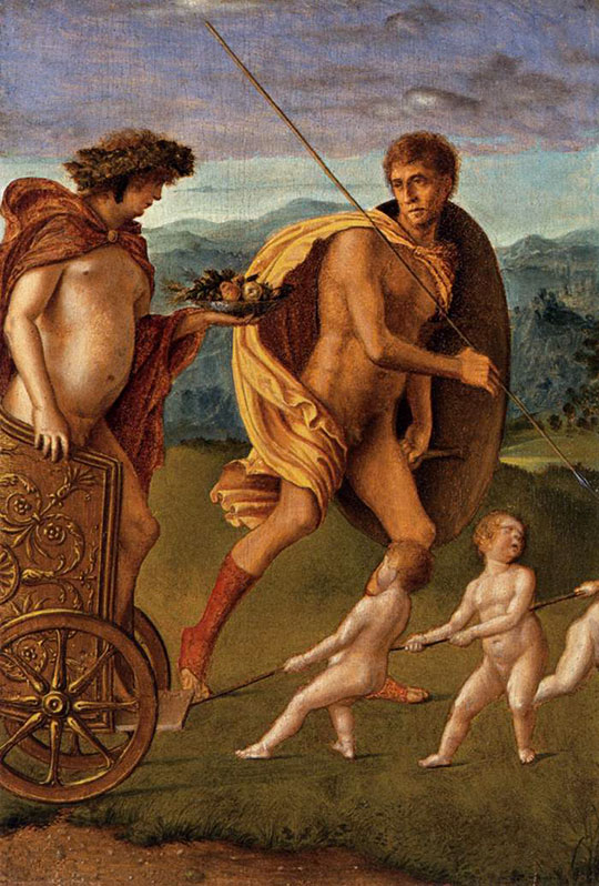 Čtyři alegorie: Touha (čili Vytrvalost), Giovanni Bellini, 1490