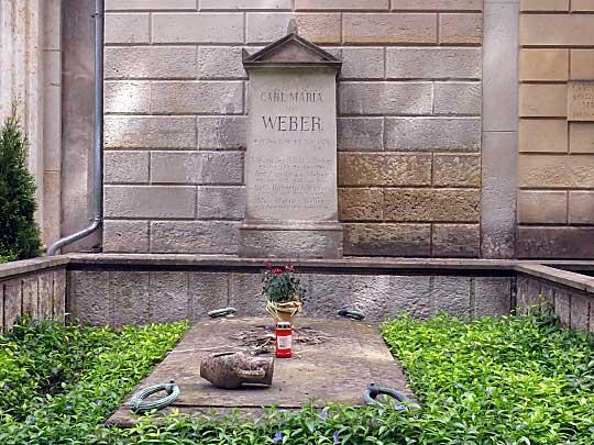 Hrob C. M. von Webera, Starý katolický hřbitov, Drážďany