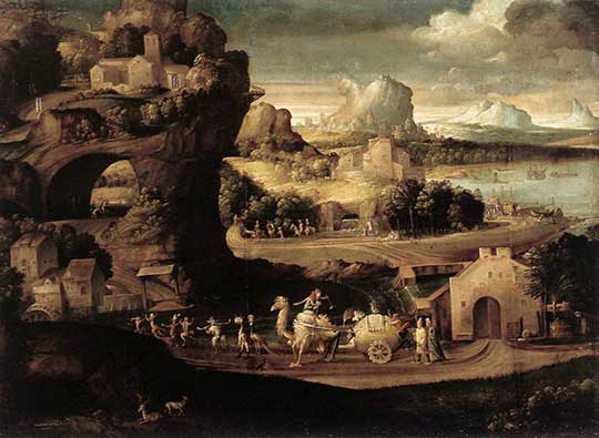 Krajina s kouzelníky, Girolamo da Carpi, 1525