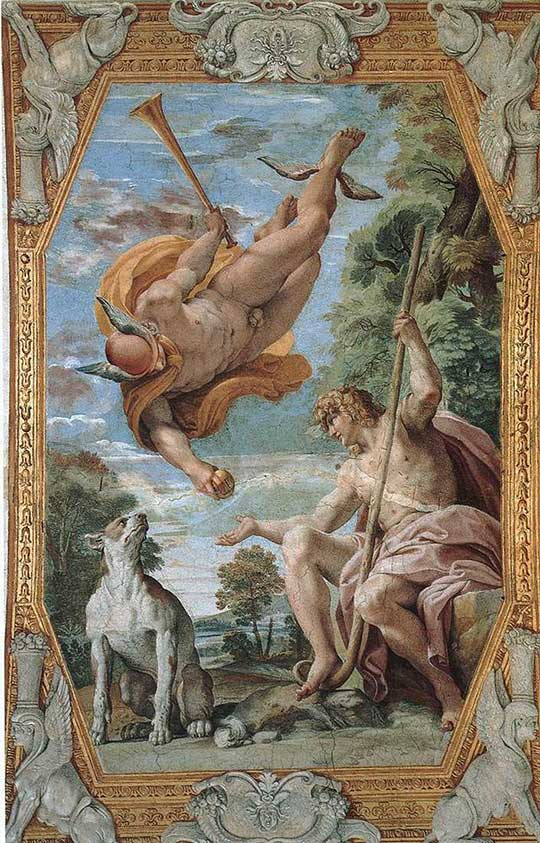 Merkur a Paris, Annibale Carracci, 1597–1602