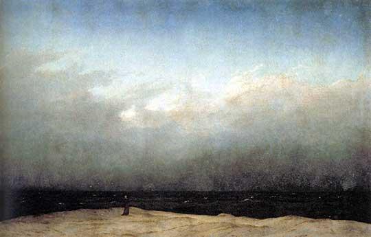Mnich u moře, Caspar David Friedrich, 1809