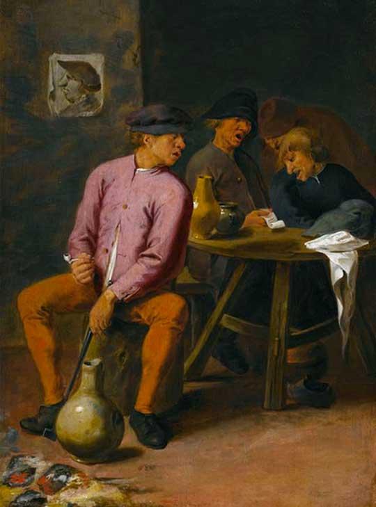 Opilí zpěváci v hospodě, Josse van Croesbeeck