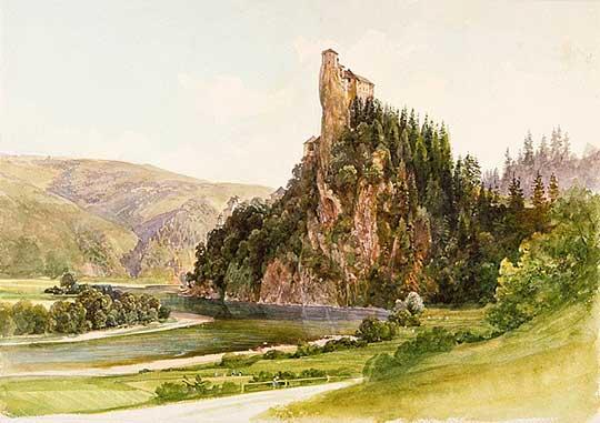 Oravský hrad, Thomas Ender, 1860