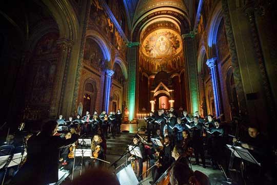Orchestr Berg, Kühnův smíšený sbor, Brány Jeruzaléma, foto Karel Šuter