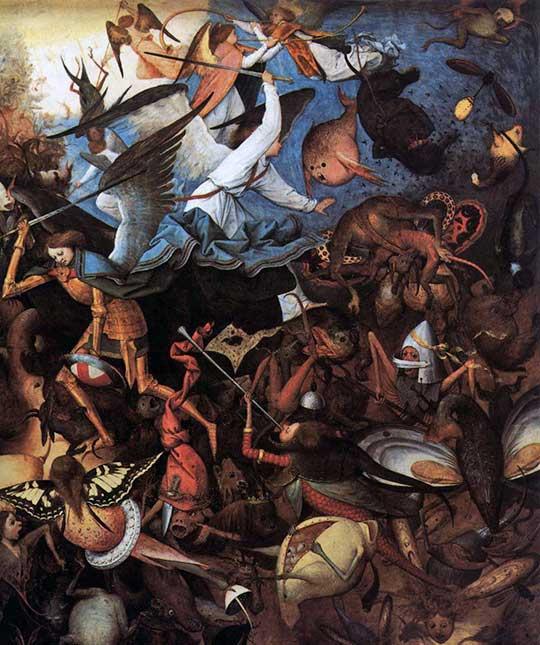 Pád odbojných andělů, Pieter Bruegel starší, 1562