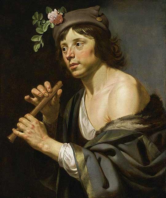Pastýř s flétnou, Jan van Bijlert, 1630–35
