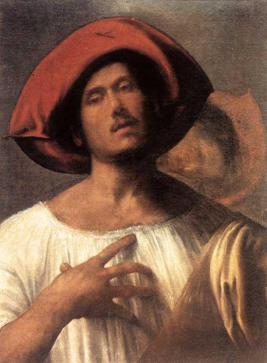 Patetický zpěvák, Giorgione, 1510
