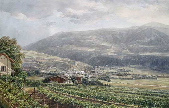 Pohled z Brixenu, Thomas Ender, 1824