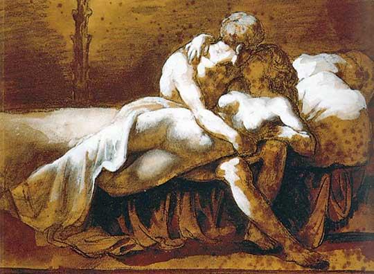 Polibek, Theodore Géricault, 1822